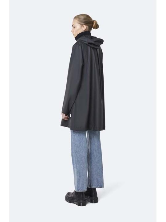 Rains A-line Jacket Black