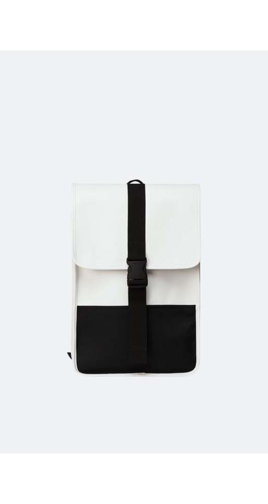 Rains Buckle Backpack Mini Off White