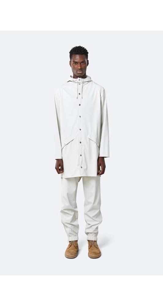 Rains Long Jacket Off White