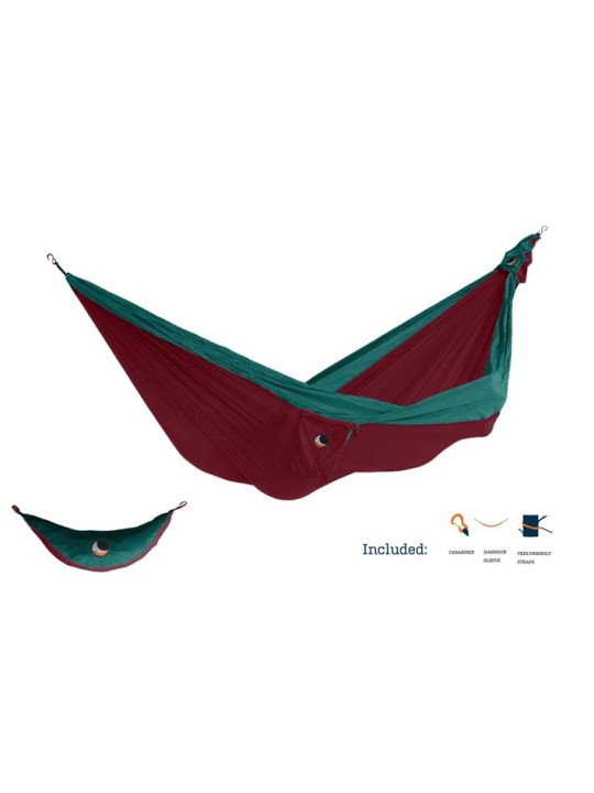 Ultimate Double Hammock Burgundy/Emerald Green