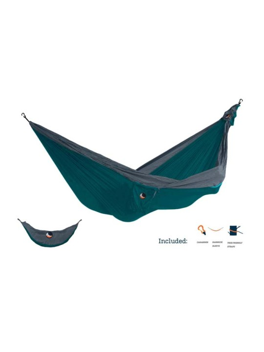 Ultimate Double Hammock Emerald Green/Dark Grey
