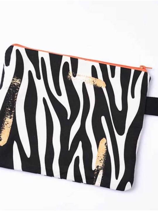Handmade Bag - Square W - Duchess golden fingerprint