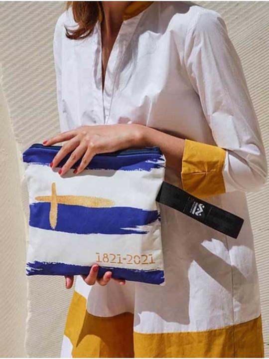 Handmade Bag - Square W - Greece 200 years