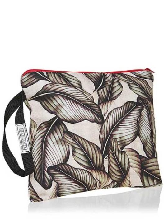 Handmade Bag - Square W - Tropical Leaves