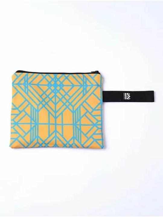 Handmade Bag - Square W - Yellow Marble