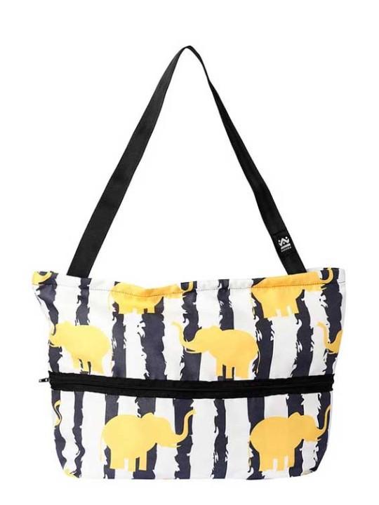Handmade Tote Bag  - Square 2B - Lucky Elephants