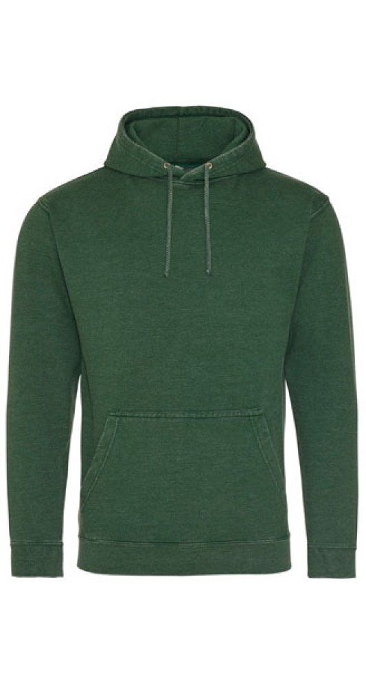 All We Do Hooded Washed Bottle Green