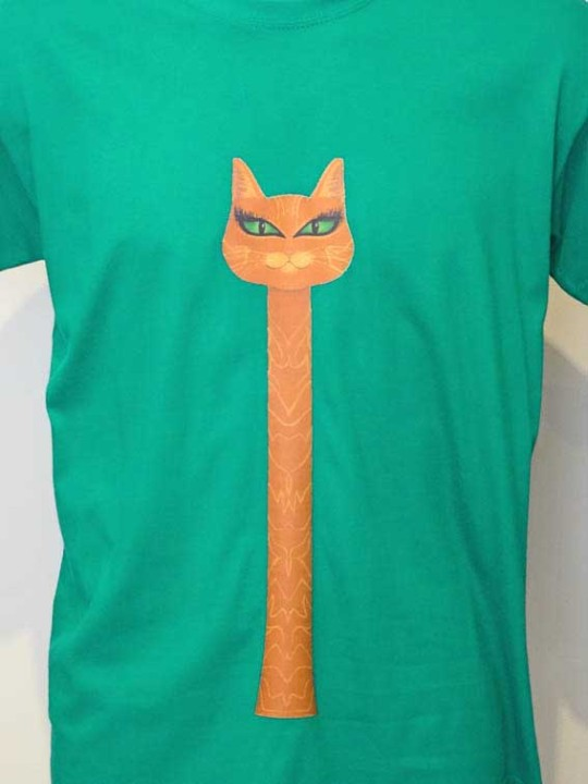 Long Neck Cat T-Shirt
