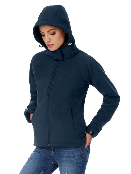 B&C HOODED SOFTSHELL /WOMEN  JW937