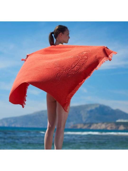 Monochrome Beach Towel Just Orange