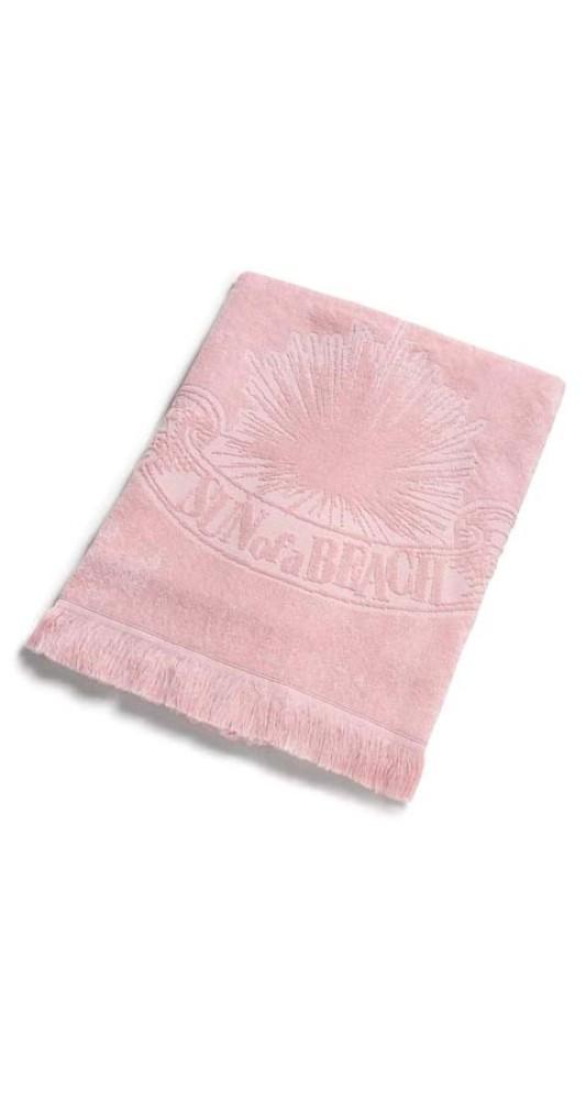 Monochrome Beach Towel Just Pink