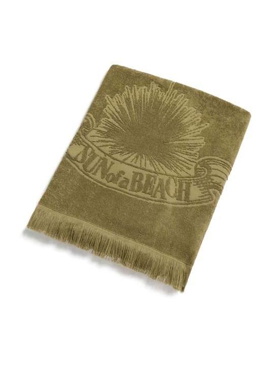 Monochrome Beach Towel Just Sage