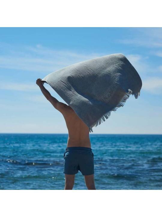 Monochrome Beach Towel Just Silver