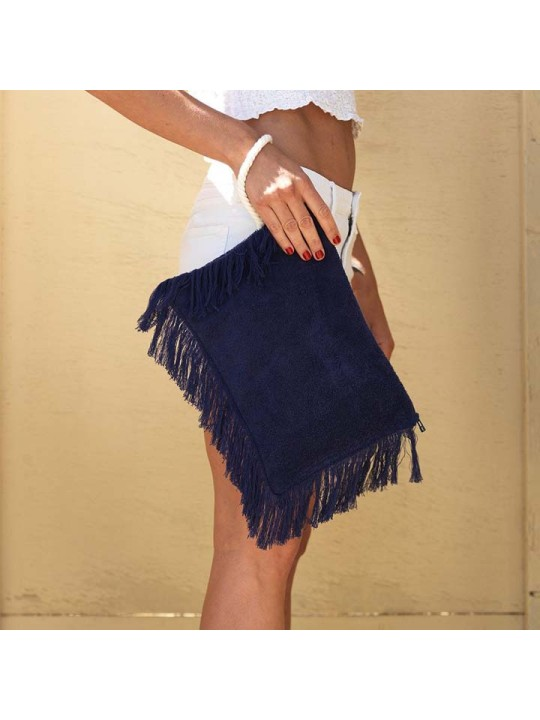 Fringy Clutch Watch Out Navy