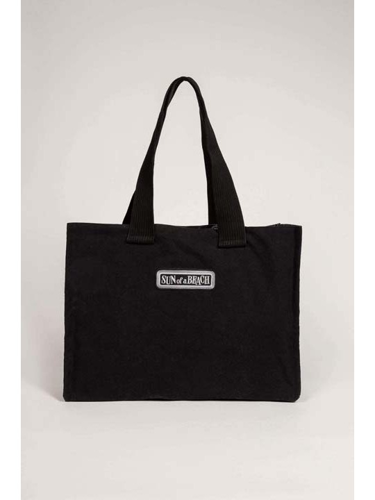 Double Tote Beach Bag Just Black