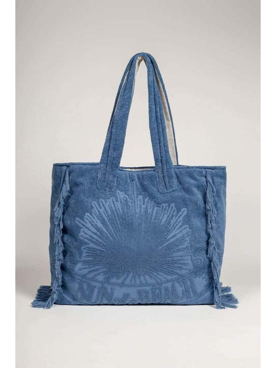 Terry Tote Beach Bag Just Blue