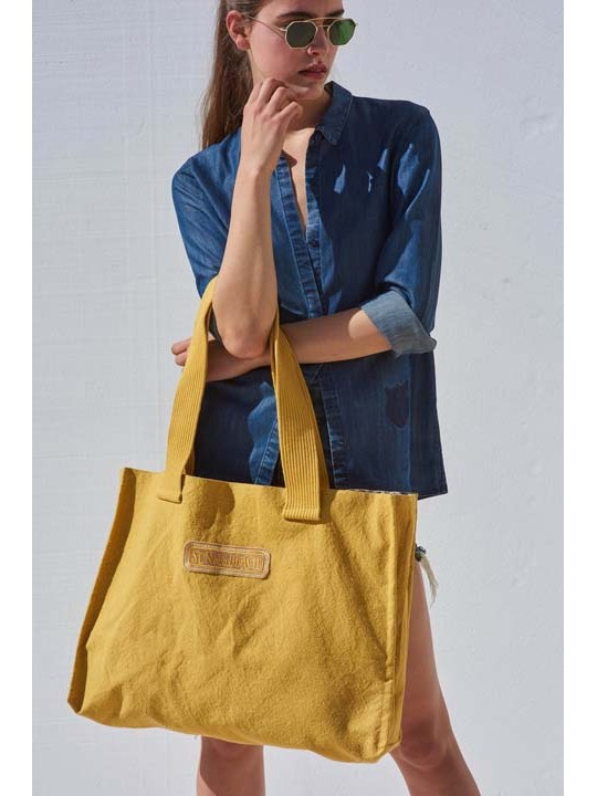 Double Tote Beach Bag Just Just Curry