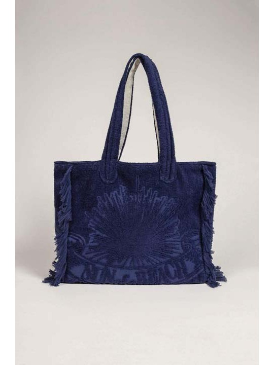 Terry Tote Beach Bag Just Navy