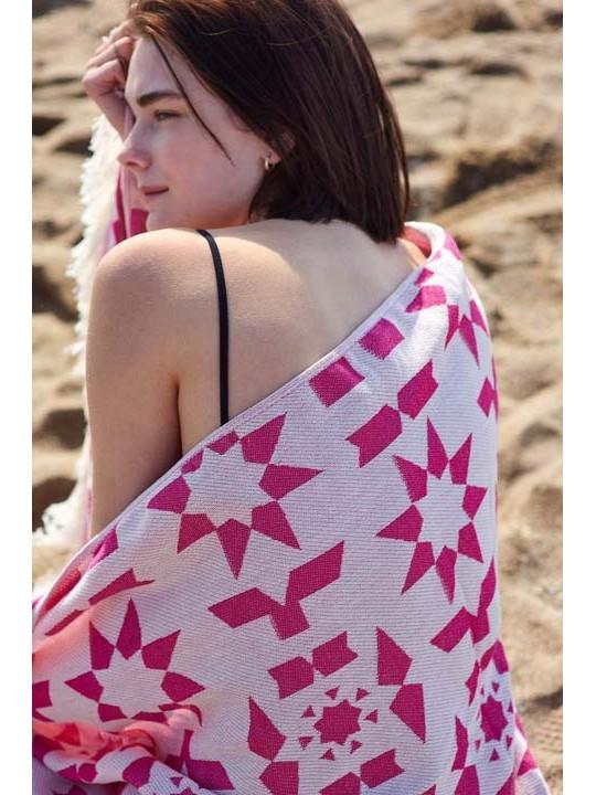 Feather Beach Towel Formentera Azalea