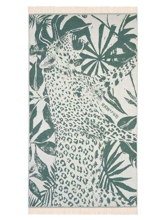 Feather Beach Towel Jungle Leopard Verdona