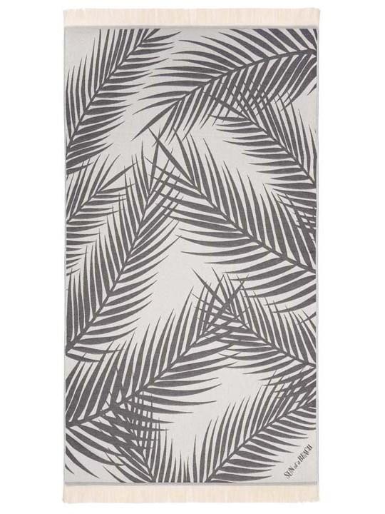 Feather Beach Towel Palm Springs Grey