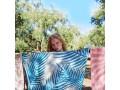 Feather Beach Towel Palm Springs Petrol