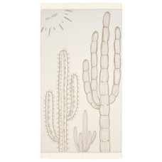 Feather Beach Towel Cactilicious Beige