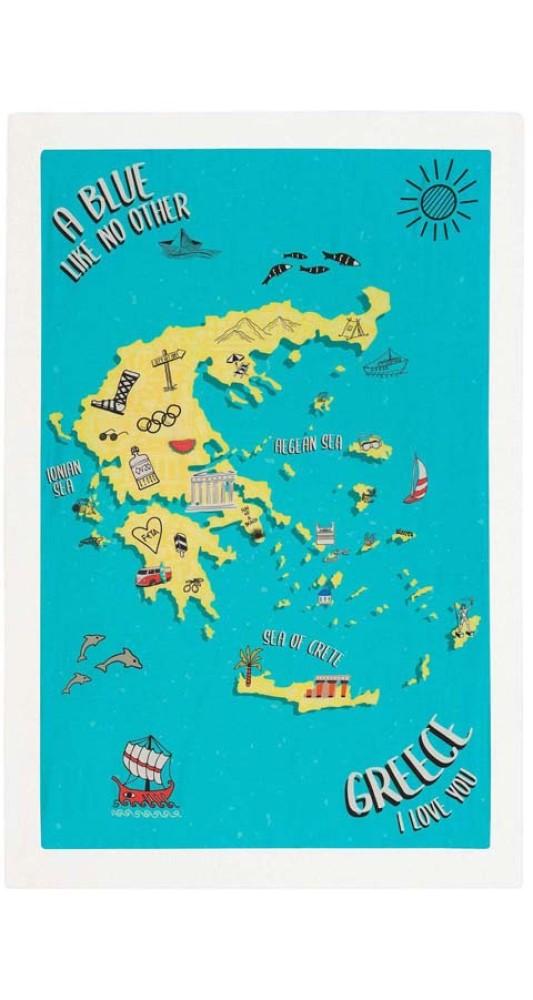 Signature Beach Towel Greece I Love You